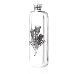 Top Pocket Thistle Pewter Flask 3 Ounces
