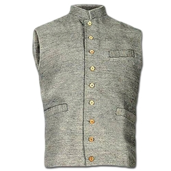 Civil War Era Jean Wool Vest - 9 Buttons - Cotton Lined