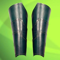 Green Elven Leather Greaves