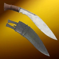 Traditional BhojPure Kukri w/ Old Scabbard 26-401166