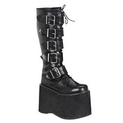 10d8c67c0be Mega Men s Strap Knee High Boots
