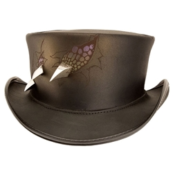 Evil Within Leather Top Hat