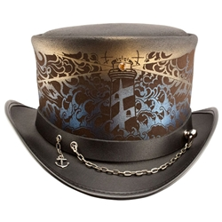 Shipwrecked Leather Top Hat