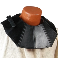 Gothic Fluted Leather Gorget BTS-2181