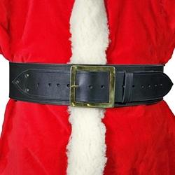 santa claus belt 4 in wide leather square buckle - Santa Claus Belt