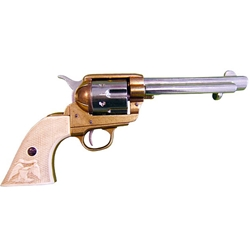 Old West M1873 Fast Draw Frontier Two tone Revolver Non Firing