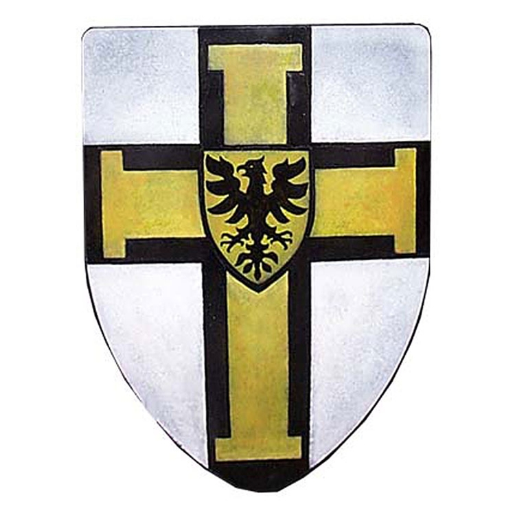 By The Sword, Inc. - Teutonic Knights Steel Heater Shield 288-017